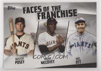 Buster Posey, Willie McCovey, Mel Ott