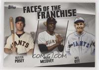 Mel Ott, Willie McCovey, Buster Posey