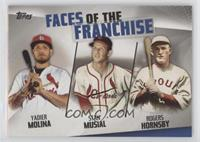 Rogers Hornsby, Yadier Molina, Stan Musial