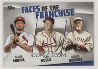 Yadier Molina, Stan Musial, Rogers Hornsby