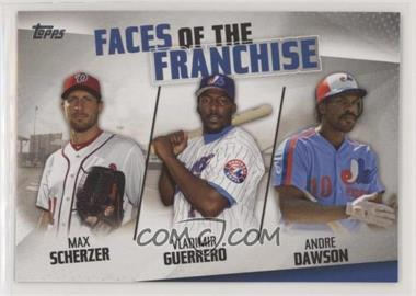 2019 Topps - Faces of the Franchise #FOF-29 - Max Scherzer, Vladimir Guerrero, Andre Dawson