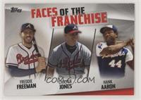 Freddie Freeman, Chipper Jones, Hank Aaron