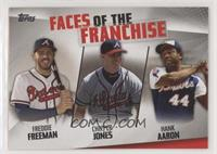 Freddie Freeman, Chipper Jones, Hank Aaron