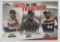 Hank Aaron, Chipper Jones, Freddie Freeman