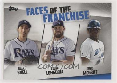2019 Topps - Faces of the Franchise #FOF-30 - Blake Snell, Evan Longoria, Fred McGriff