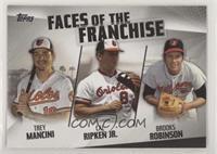 Trey Mancini, Cal Ripken Jr., Brooks Robinson