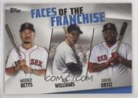 Mookie Betts, Ted Williams, David Ortiz [EX to NM]