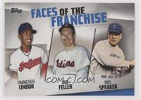 Bob Feller, Tris Speaker, Francisco Lindor