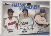 Francisco Lindor, Bob Feller, Tris Speaker