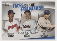 Francisco Lindor, Bob Feller, Tris Speaker [Noted]