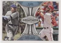 Ty Cobb, Bryce Harper [Noted]