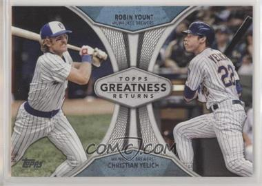 2019 Topps - Greatness Returns #GR-5 - Robin Yount, Christian Yelich