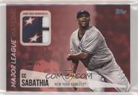 CC Sabathia #/25