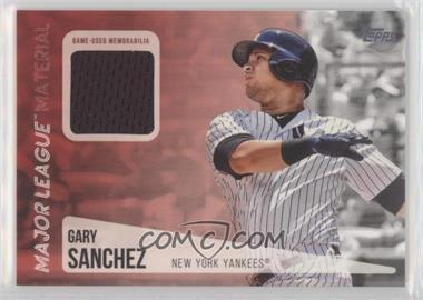 2019 Topps - Major League Material Relics #MLM-GS - Gary Sanchez