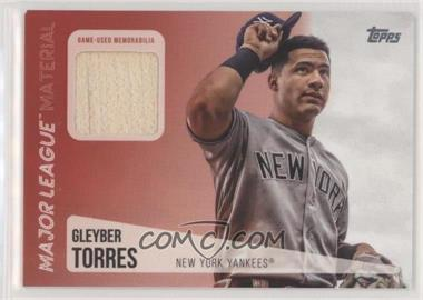 2019 Topps - Major League Material Relics #MLM-GT - Gleyber Torres [EX to NM]