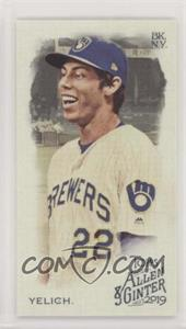 2019 Topps Allen & Ginter's - [Base] - Mini No Number #2 - Christian Yelich /50