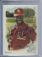 Short Print - Lou Brock [JSA Certified COA Sticker]
