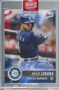 2019 Topps Archives Signature Series Active Player Edition Buybacks - [Base] #17TB-103 - Jean Segura (2017 Topps Bunt) /35 [Buy Back]