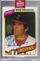 Mike Hargrove (1980 Topps) [Buy Back] #/85