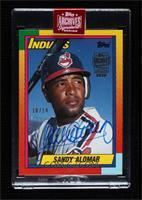 Sandy Alomar (1990 Topps Traded) [BuyBack] #/14