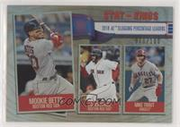 Stat Kings - Mike Trout, J.D. Martinez, Mookie Betts #/100
