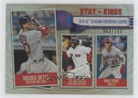Stat Kings - Mike Trout, J.D. Martinez, Mookie Betts /100