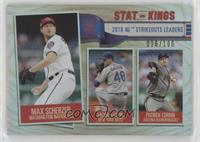 Stat Kings - Patrick Corbin, Max Scherzer, Jacob deGrom [EX to NM] #/…