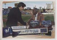 Award Winners - Christian Yelich (Receiving Award from Hank Aaron)