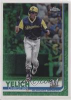 Christian Yelich (Yellow Helmet) #/99