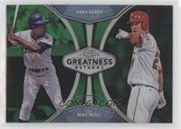 Hank Aaron, Mike Trout /99