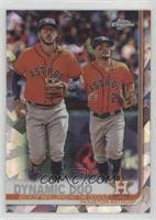 Checklist - Dynamic Duo (Astros Infielders Hit the Dugout) [EX to NM]