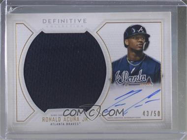 2019 Topps Definitive Collection - Base Autograph Relic Collection #ARC-RA - Ronald Acuna Jr. /50