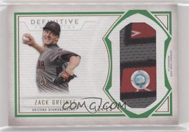 2019 Topps Definitive Collection - Jumbo Relic Collection - Green #DJRC-ZG - Zack Greinke /15