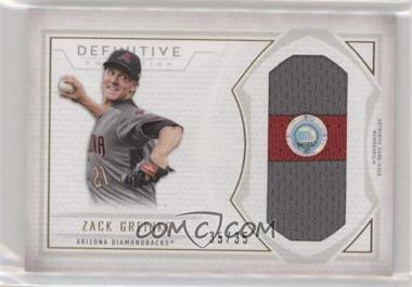 2019 Topps Definitive Collection - Jumbo Relic Collection #DJRC-ZG - Zack Greinke /35