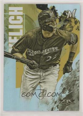 2019 Topps Fire - [Base] - Gold Minted #18 - Christian Yelich