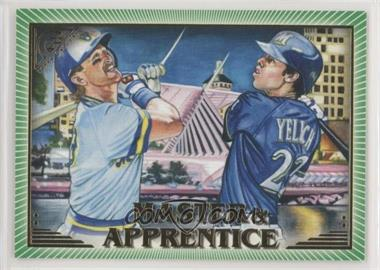2019 Topps Gallery - Master and Apprentice - Green #MA-YY - Robin Yount, Christian Yelich /250