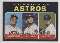 Rookie Stars - Dean Deetz, Framber Valdez, Josh James /50