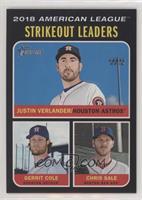 League Leaders - Chris Sale, Justin Verlander, Gerrit Cole /50