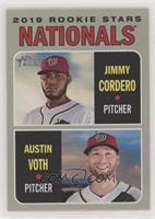 Rookie Stars - Austin Voth, Jimmy Cordero