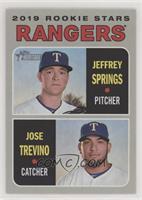 Rookie Stars - Jeffrey Springs, Jose Trevino