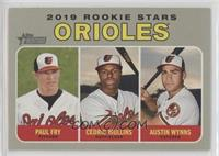 Rookie Stars - Cedric Mullins, Paul Fry, Austin Wynns