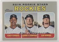 Rookie Stars - Garrett Hampson, Sam Howard, Yency Almonte