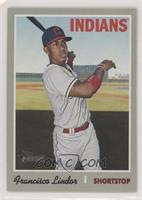 Short Print - Francisco Lindor (White Jersey, Bat in Hand)