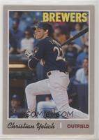 Short Print - Christian Yelich (Action Variation)
