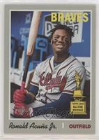 Short Print - Ronald Acuna Jr. (In Dugout, Hands on Bat)