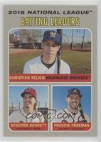 League Leaders - Christian Yelich, Freddie Freeman, Scooter Gennett