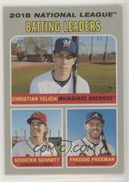League Leaders - Christian Yelich, Freddie Freeman, Scooter Gennett