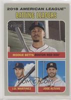 League Leaders - Jose Altuve, Mookie Betts, J.D. Martinez