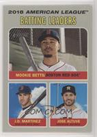 League Leaders - Jose Altuve, Mookie Betts, J.D. Martinez