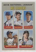 League Leaders - Javier Baez, Jesus Aguilar, Trevor Story, Christian Yelich, No…